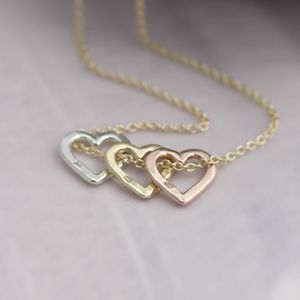 Personalised 9ct Gold Mini Heart Necklace - jewellery