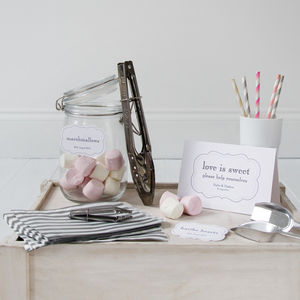 Personalised Diy Wedding Candy Bar Kit