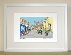 Bath Abbey A4 Signed Print - posters & prints