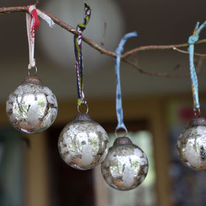 Antique Glass Baubles Set Of Four - view all decorations