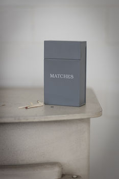Match Box in Charcoal
