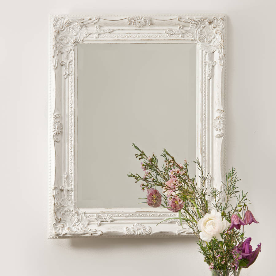 Beautifull distressed vintage style wall mirror by hand for Antique style wall mirror