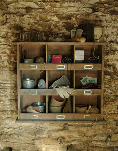 Vintage Style Wooden Shelf Unit - storage & organisers
