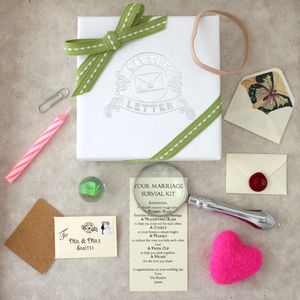 Personalised Marriage Survival Wedding Gift - last-minute gifts