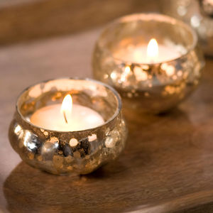 Floating T Light Holders Set Of Six - lights & lanterns