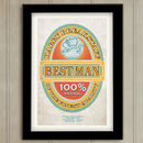 Best Man Beer Label Wedding Print