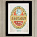 Best Man Beer Label Print