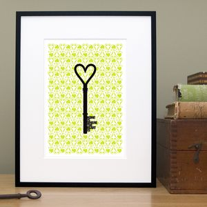 'Home Is Where The Heart Is' New Home Gift Print - posters & prints