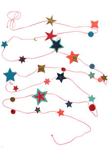 Pink String Of Stars - garlands & bunting