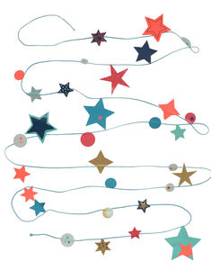 Blue String Of Stars - garlands & bunting