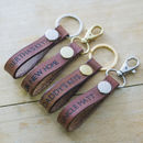 Personalised Key Leathers