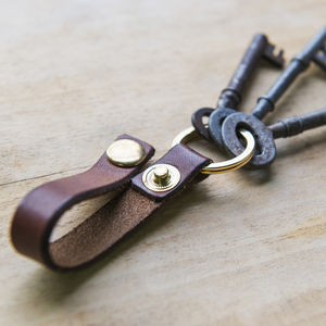 Personalised Key Leathers - stocking fillers under £15
