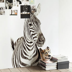 Zebra Magnetic Wallpaper - children's room