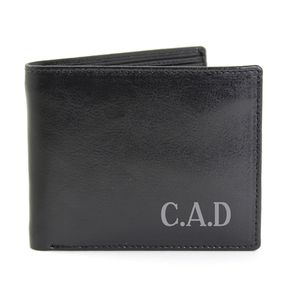 Mens Initials Personalised Leather Wallet