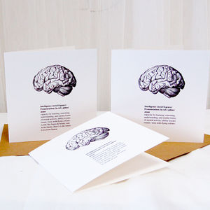 Brains Contemporary Graduation Card