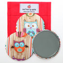 Large Owl Teacher Handbag Mirror