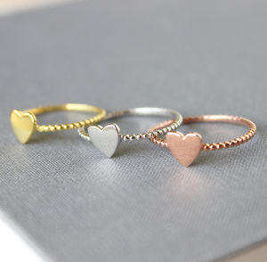 Tiny Heart Ring - rings