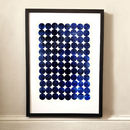 Unity Indigo Abstract Art Print