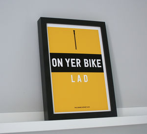 Tour De France Cycling Print - gifts for cyclists