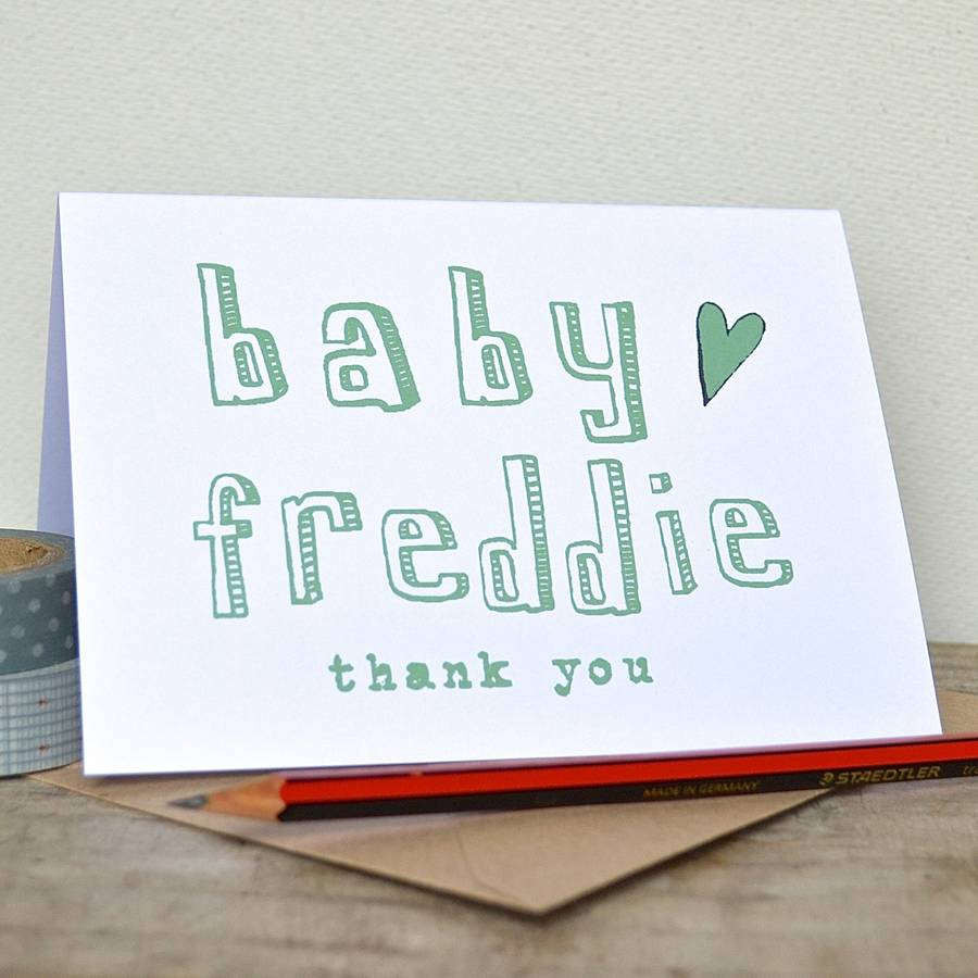 personalised new baby thank you cards by becka griffin ...