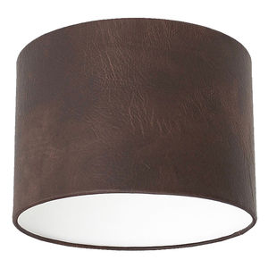 Dark Brown Leather Effect Lampshade - lampshades