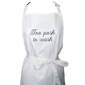 Personalised Embroidered Apron - baking