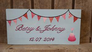 Bunting Wedding Sign - outdoor wedding signs