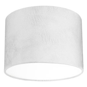 White Leather Effect Lampshade