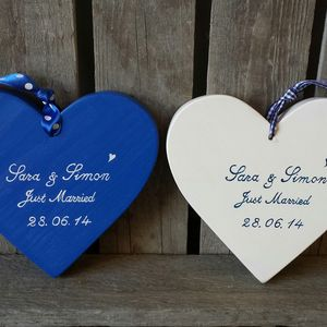 Just Married Wedding Heart - decorative accessories