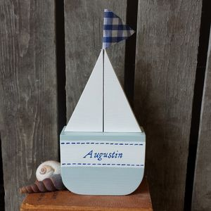 Personalised Sailboat - page boy gifts