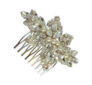 Khara Crystal And Pearl Bridal Comb