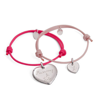Mother And Daughter Personalised Bracelet Duo