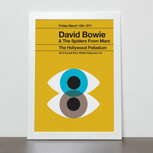 David Bowie Remixed Poster - posters & prints