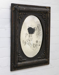 Hand Illustrated And Hand Silvered Rose Lady Mirror