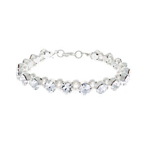Kyra Crystal And Pearl Bracelet