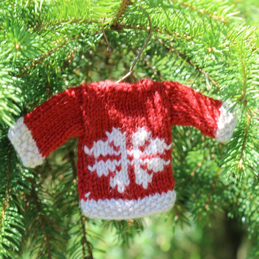 set of three mini knit christmas jumper decorations by lime tree ...