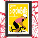 Bicycle Belle Personalised Cycling Print