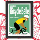 Personalised Bicycle Belle Cycling Print