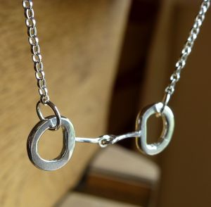 Horses Bit Silver Necklace