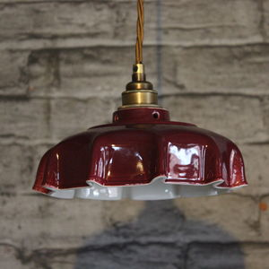 Campbell Claret Ceramic Pendant Light - lighting