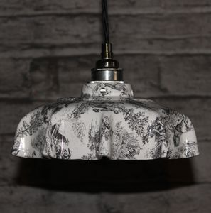 Campbell Toile Du Jouey Ceramic Pendant Light