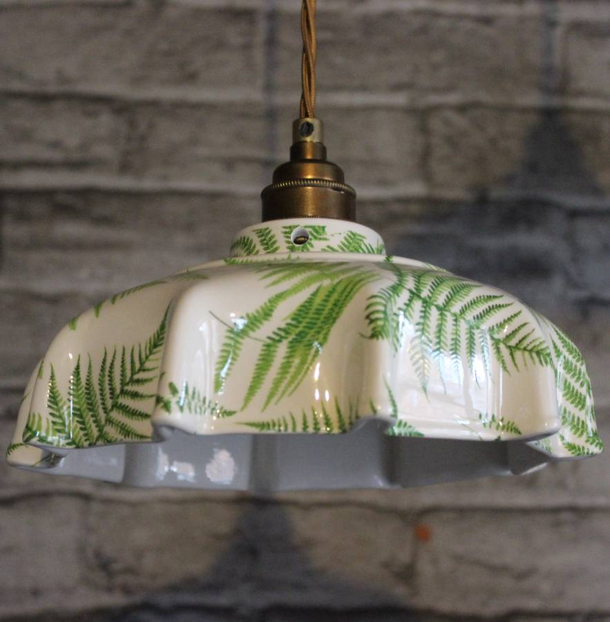Campbell fern ceramic pendant light by lyngard ceramics campbell fern ceramic pendant light aloadofball Image collections