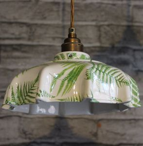 Campbell Fern Ceramic Pendant Light