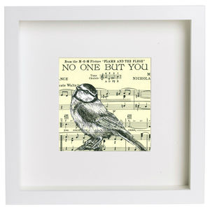 'No One But You' Music Paper Ink Drawing - paintings & canvases