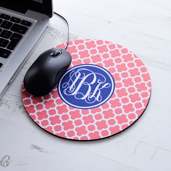 Personalised Clover Mouse Mat Round