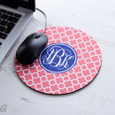Personalised Circle Mouse Mat Clover