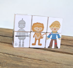 Wizard Of Oz Inspired Wooden Picture Blocks - traditional toys & games