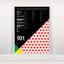 'Le Tour De France 101' Ltd Edition Screen Print