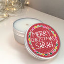 Personalised Christmas Scented Candle Tin