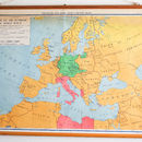 Vintage Pull Down Map, Europe